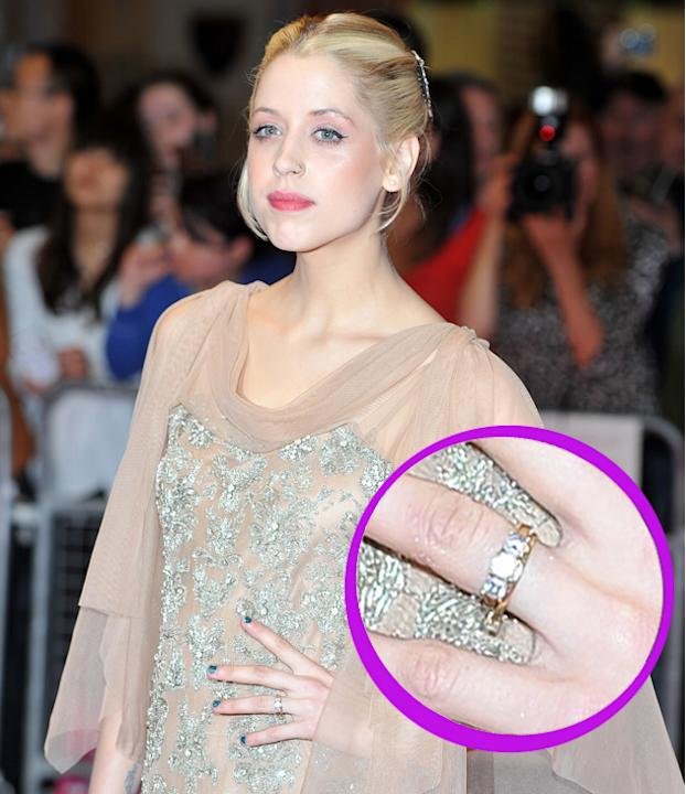 Peaches Geldof engagement ring: When she's not making headlines for her recent weight loss, Peaches is catching the paparazzi's flash with some statement bling – her engagement ring says it all – she'