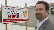 Mayor Mike Saric hopes the offer of cheap property and low taxes will entice new businesses to the town.