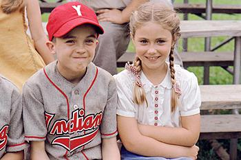 Frankie Muniz and Caitlin Wachs in Warner Brothers' My Dog Skip (12/99)