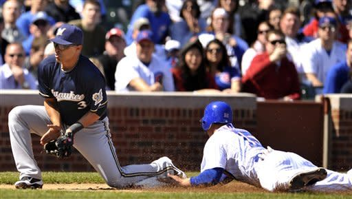 Garza shines, Greinke routed as Cubs beat Brewers