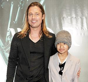 "Brad Pitt Says Maddox Jolie-Pitt ""Gets Shot in the Head"" in World War Z"
