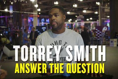 Torrey Smith goes on Super Bowl game show, talks Katy Perry and Forrest Gump