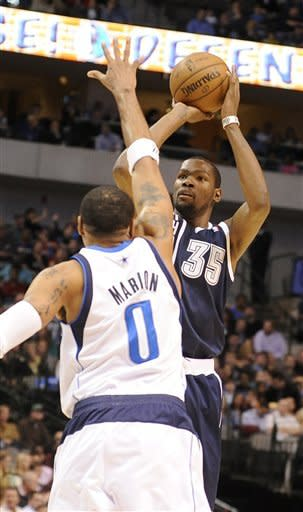 Durant scores 52, Thunder top Mavs 117-114 in OT