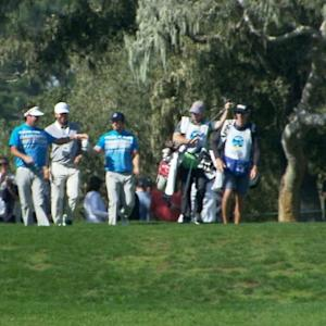 Mark Wahlberg nearly gets a hole-in-one at AT&T Pebble Beach