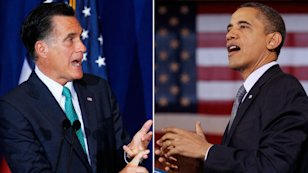 Mitt Romney and Barack Obama. Credit: ABC News