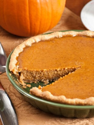 When it comes to dessert, the pumpkin pie is a good option.