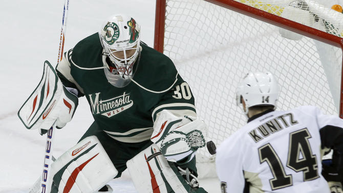 McCormick, Bryzgalov lead Wild past Penguins, 4-0