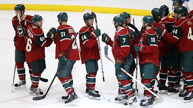 Minnesota Wild players celebrate (Reuters)
