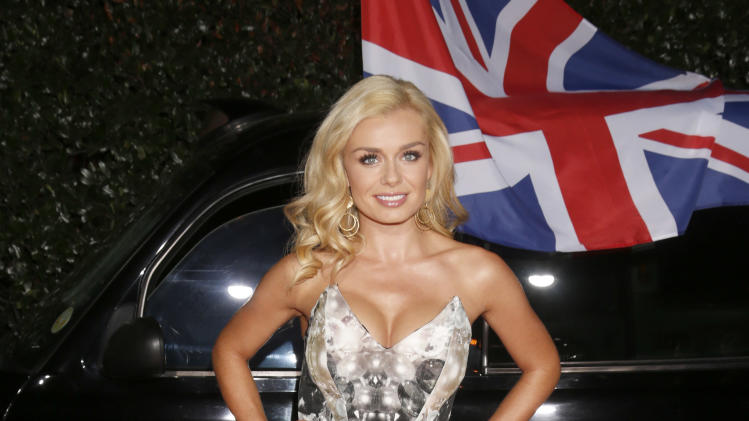 Katherine Jenkins attends the Topshop Topman LA Opening Party At Cecconi's in Los Angeles, on Wednesday, Feb. 13, 2013 in Los Angeles. (Photo by Todd Williamson/Invision for/AP)