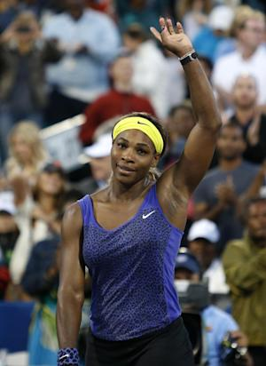 Serena Williams wins in her return