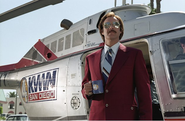 Will Ferrell Anchorman: The Legend of Ron Burgundy Production Stills DreamWorks 2003