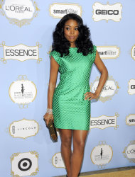 Actress Gabrielle Union, recipient of the Fierce & Fearless award, poses at the 6th Annual Black Women in Hollywood Luncheon at the Beverly Hills Hotel on Thursday, Feb. 21, 2013 in Los Angeles. (Photo by Chris Pizzello/Invision/AP)