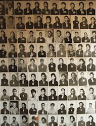 "An image from 17 April 1998 shows photographs of the victims of the Khmer Rouge ""Killing Fields"" displayed at the genocide museum in Toul Sleng prison (S21), a former school turned into a torture camp in Cambodia. Cambodia's Khmer Rouge court Friday delayed freeing the regime's former ""First Lady"", who has dementia, after prosecutors requested tighter conditions for the genocide suspect's release"