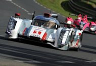 Audi R18 E-Tron Quattro N1 driven by German Andre Lotterer competes in the 80th edition of Le Mans 24 hour endurance race