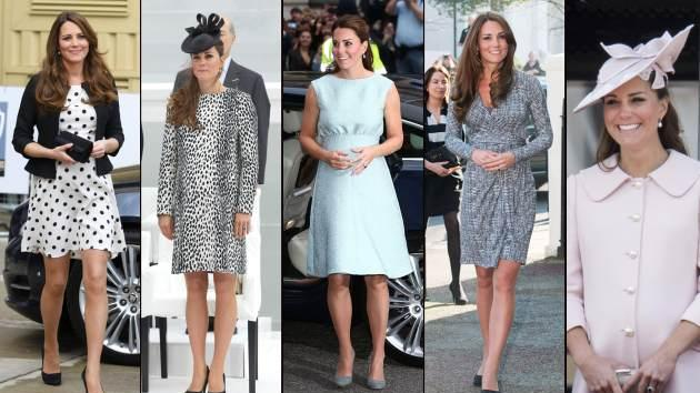 Kate Middleton's pregnancy styles -- Getty Images