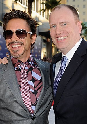 Robert Downey Jr. and Kevin Feige