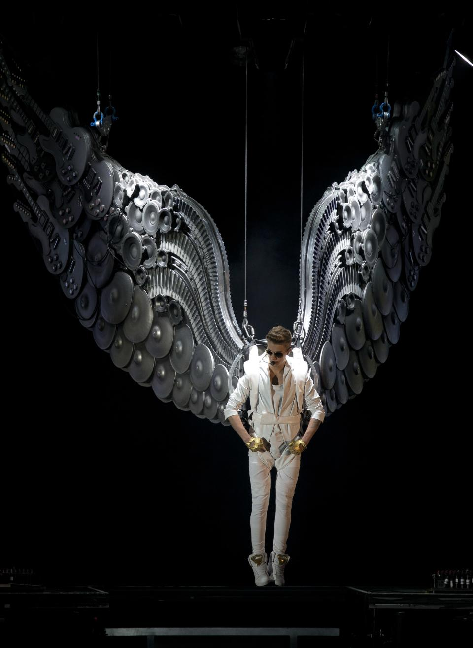Canadian singer Justin Bieber performs at the o2 Arena in east London, Monday, March 4, 2013. (Photo by Joel Ryan/Invision/AP)