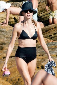Naomi Watts Covers Up in High-Waisted, Retro Bikini Bottom