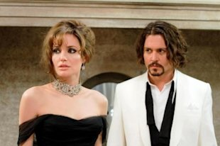 Nominees Angelina Jolie and Johnny Depp in the critically panned film,