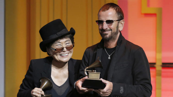 Yoko Ono and Ringo Star attend The 56th Annual GRAMMY Awards - Special Merit Awards Ceremony, on Saturday, January, 25, 2014 in Los Angeles. (Photo by Todd Williamson/Invision/AP)