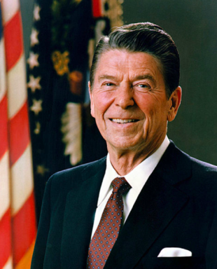 Former U.S. President Ronald Reagan