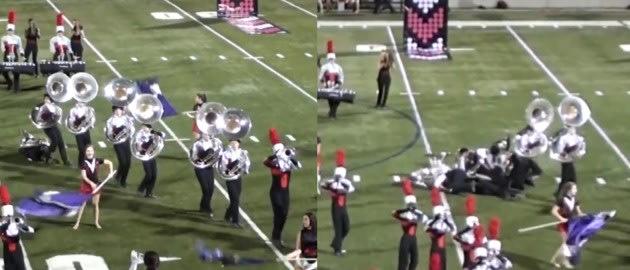 tuba fracas. Photo collage: YouTube screenshots