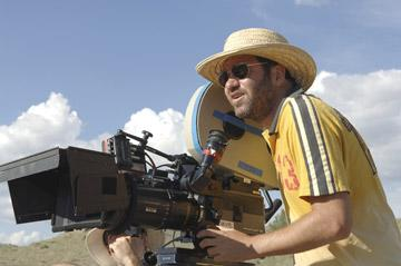 Director Dave Meyers on the set of Rogue Pictures' The Hitcher