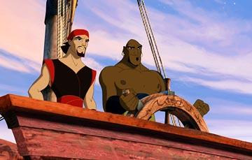 Sinbad ( Brad Pitt ) and Kale ( Dennis Haysbert ) in DreamWorks' Sinbad: Legend of the Seven Seas