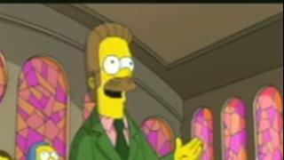 The Simpsons Movie: Lovejoy And Flanders In Church