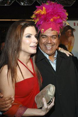 Sandra Bullock and George Lopez at the Hollywood premiere of Warner Bros. Pictures' Miss Congeniality 2: Armed and Fabulous