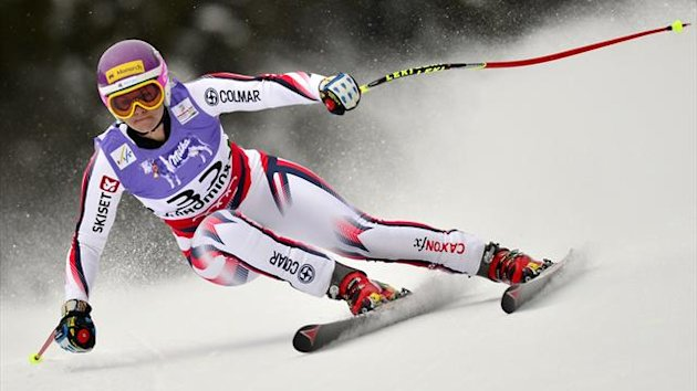 Great Britain's Chemmy Alcott competes during the women's Super-G event of the 2013 Ski World Championships in Schladming, Austria (AFP)