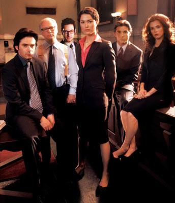Billy Burke, Barry Levinson, Adam Busch, Shalom Harlow, Jeff Hephner and Anna Friel Fox's The Jury