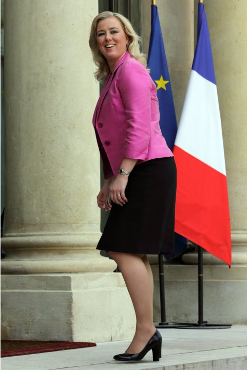 Finland's Finance Minister Jutta Urpilainen arrives at the Elysee Palace in Paris