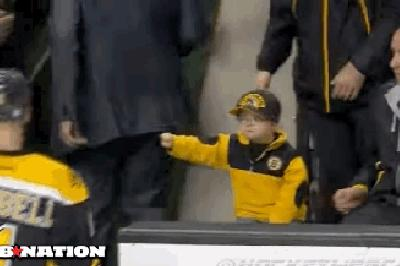 Bruins' Fist Bump Kid named Man of the Year for charity work