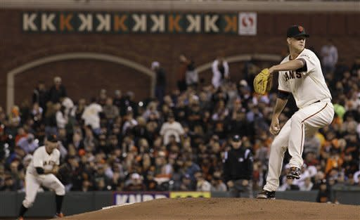 Cain pitches first perfecto for Giants