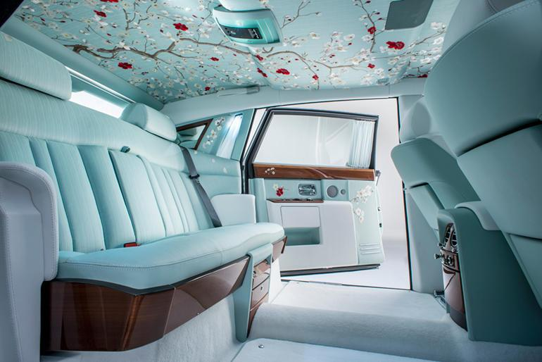 Rolls-Royce ultimate luxury interior: Silk, cherrywood and mother-of-pearl