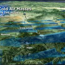 Cold Air Masses Dictated By Colorado's Varied Terrain