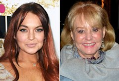 Lindsay Lohan, Barbara Walters | Photo Credits: Jason LaVeris/FilmMagic; James Devaney/WireImage