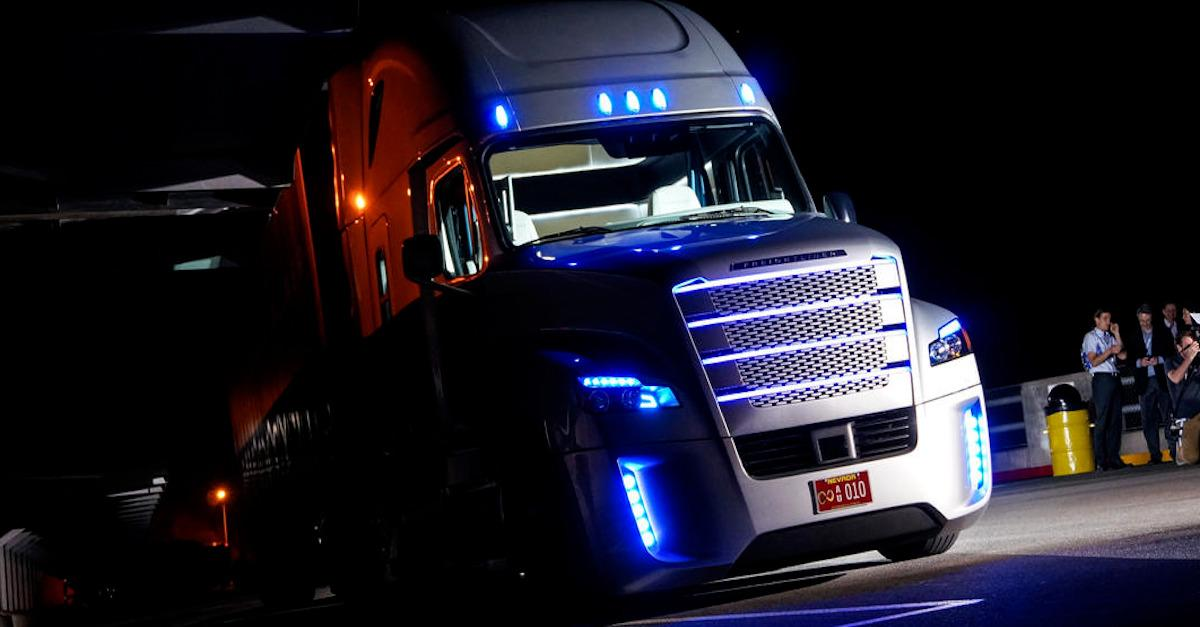 Would you trust a self-driving truck?