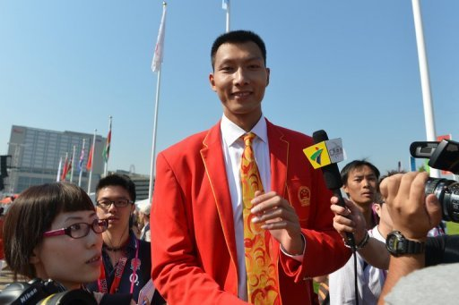 China's basketball player Yi Jianlian