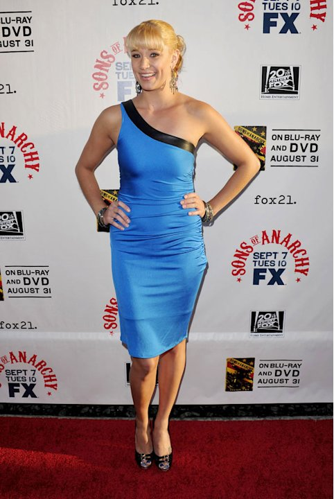 "Kristen Renton attends FX's ""Sons Of Anarchy"" Season 3 premiere on August 30, 2010, in Hollywood."