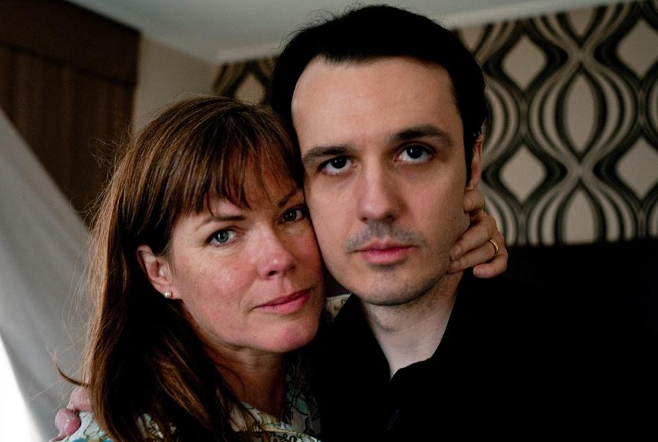 "This undated publicity photo released by Sony Pictures Classics shows Lorri Davis, left, and Damien Echols in the documentary film, ""West of Memphis."" (AP Photo/Sony Pictures Classics, Olivia Fougeiral)"
