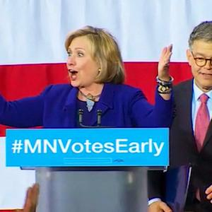 Hillary Clinton campaigns for Gov. Dayton, Sen. Franken in Minnesota