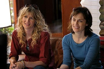 Laura Dern as Pam and Sarah Clarke as Diane in Lions Gate's Happy Endings
