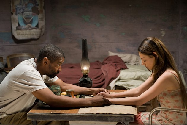 The Book of Eli Production Photos 2010 Warner Bros. Denzel Washington Mila Kunis
