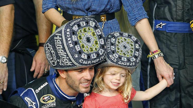 Jimmie Johnson and his daughter  Genevieve  wear championship ring    Jimmie Johnson Championships