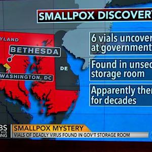 Six vials of smallpox found forgotten at government lab