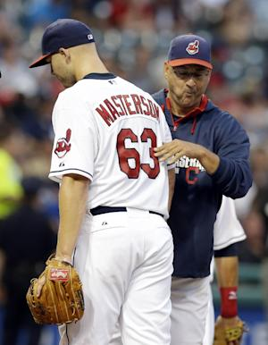 Indians place Masterson on DL with knee injury