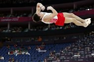 Scores of empty seats can be seen as Russia's gymnast Igor Parkhomenko competes during the London Olympics on July 28. The organisers of the London Olympics faced a growing storm Sunday over blocks of empty seats at several venues, while British police were reportedly probing an alleged black-market scandal