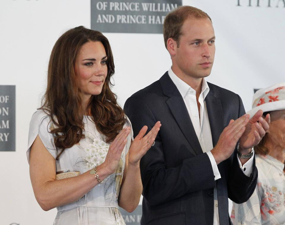 Prince William and Kate, the Duke and Duchess of Cambridge, attend a charity polo match at the Santa Barbara Polo & Racquet Club in Carpinteria, Calif., on Saturday, July 9, 2011. The event is held in support of The American Friends of The Foundation of Prince William and Prince Harry. (AP Photo/Alex Gallardo, pool)